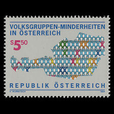 Austria 1994 - Austria's Ethnic Minority Groups Art - Sc 1659 MNH