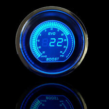 "Universal 2"" 52mm Blue Red Turbo Boost Vacuum Car Digital LED Light Gauge Meter"