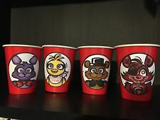 12 Five Nights At Freddy's FNAF Birthday Party Cups - RED