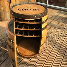 "Solid Oak Whisky Barrel Guinness Branded ""Balmoral"" Drinks Cabinet 