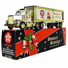 Texaco Toy Truck 18-Wheeler Coin Bank Credit Card Limited Edition Gold Chrome