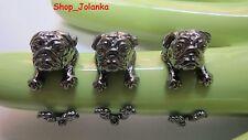 MOPS PUG Ring - Anthrazit schwarz Farbe gun black color sehr schön-NEU-mit Box