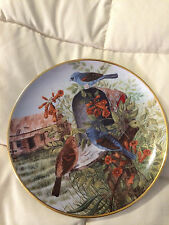 VINTAGE FRANKLIN MINT HEIRLOOM ROOM WITH A VIEW CECIL EAKINS BIRD PLATE dish