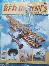 BUILD THE RED BARON'S FIGHTER PLANE FOKKER DR1  HACHETTE  ISSUE 77  NEW SEALED
