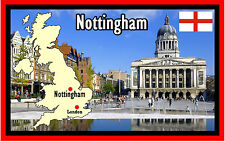 NOTTINGHAM, UK - SOUVENIR NOVELTY FRIDGE MAGNET - SIGHTS / FLAGS - NEW - GIFTS