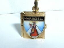 VINTAGE 14K YELLOW GOLD MARIAZELL AUSTRIA LOCKET CHARM - it opens up