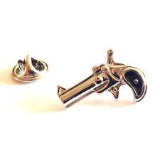 Six Shooter Gun LAPEL PIN BADGE Pistol Revolver Handgun Cowboy Birthday Present