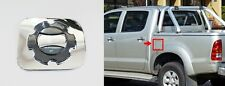 CHROME-CARBON FUEL TANK OIL CAP COVER TRIM FOR TOYOTA HILUX VIGO MK6 SR5 2005-12