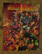 """Mortal kombat ii officiel artwork poster #3 (17"""" x 21"""") * très rare * jeu vidéo 2"""