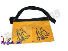 2 POCKET SUEDE LEATHER GARDEN TOOL POUCH BAG WAIST BELT WITH EXTRA CAPACITY