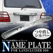 98-07 Toyota Land Cruiser FJ100 Amazon Chrome Rear Garnish License Name Plate