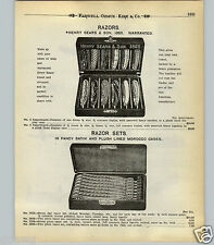 1904 PAPER AD Henry Sears & Son Straight Razor Store Display Case Box 7 Day Week