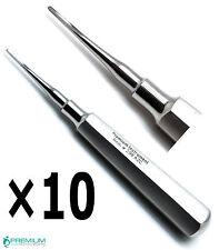 10× Dental Elevator Straight Root Tip 2mm Luxating Surgical Extract Instruments
