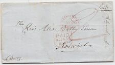 * 1848 EDINBURGH EDUCATIONAL INSTITUTE LETTER TO REV ALEX BATH POWER IN NORWICH