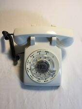 Vintage Bell 500 DM Western Electric Rotary Dial Phone White Telephone Working