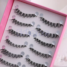 10 Pairs Short Eye Lashes Messy Cross Daily Makeup False Eyelashes HS-20
