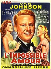 ADVERTISING MOVIE FILM L'IMPOSSIBLE AMOUR DE HAVEN BARRYMORE POSTER PRINT LV1050