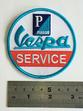 Vespa Service Patch - Embroidered - Iron or Sew On