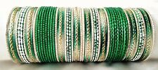 Indian Bollywood Ethnic 48pcs Green Colored  Bridal Bangles Set Jewelry 2.4.
