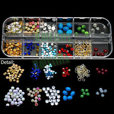 Mixed 3D Multi Color Round Acrylic Diamond Resin Nail Art Rhinestones Decals 2#