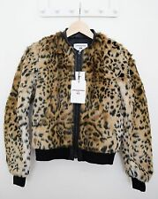 UNIQLO x CARINE ROITFELD Faux Fur Leopard Blouson Jacket XS Brand New with Tags