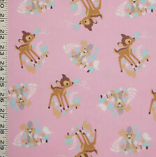 1/2YD LICENSED DISNEY CLASSIC TALE BAMBI THUMPER WOODLAND DREAM COTTON FABRIC