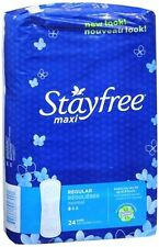 STAYFREE Maxi Pads Regular 24 Each (Pack of 4)