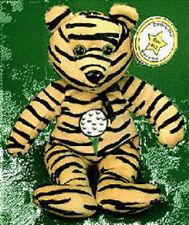 CELEBRITY BEAR Star #12 Tiger Woods Golf BEAN BAG MWMT!