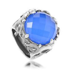 Stephen Webster Pop Superstud Sterling Silver Blue Gemstone Cocktail Ring