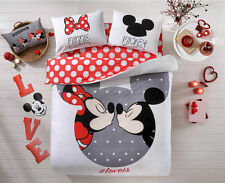 Disney Mickey Mouse Minnie Duvet Cover QUEEN Size new modell hot bedding top