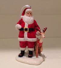 Royal Doulton Santa & Reindeer Ornament NIB