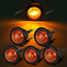 "5pcs Amber 3/4"" Round Clearance Auxiliary Stop Tail/Turn Light Sealed Light"