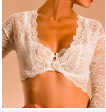 NWT $200 Chantelle France Eternelle Lace Bolero Bridal Bride Ivory Milk Womens S