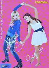 Sam & Cat-AUTOGRAFO carta-autograph Ariana Grande Jennette McCurdy skinning