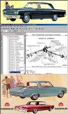1965 CHRYSLER, Mopar, Complete Dealer PARTS MANUAL on CD!