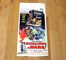 SCIALUPPE A MARE! locandina poster affiche Away All Boats Jeff Chandler 1956