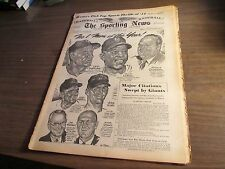 JANUARY 5, 1955  THE SPORTING NEWS -WILLIE MAYS, #1 MAN OF YEAR COVER