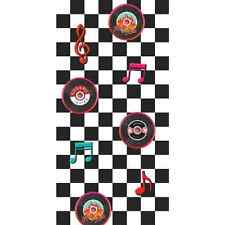 50's Rock & Roll Diner Scene Setter Retro Theme Party Wall Decoration Room Roll