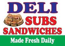 """DELI SUBS SANDWICHES 24""""x18"""" LARGE HANGING COUNTER WALL FOOD SIGNS"""