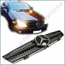 Fit 05-08 W219 Benz CLS55 CLS500 CLS350 All Gloss Black w/DTR Front Mesh Grille