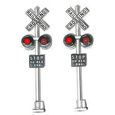 NJ International 1095 Grade Crossing Signals (1 Pair) w/ LEDs  MODELRRSUPPLY-com