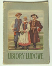 1954 BOOK Polish Folk Costumes regional style ethnic fashion design POLAND dress