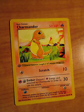 NM 1st edition CHARMANDER Pokemon Card BASE Set 46/102 Common Shadowless TCG