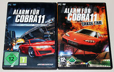 2 PC juegos set-alarma para cobra 11-Highway Nights & Crash time-DVD funda