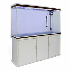 Cabinet fish tank aquarium tropical marin grand blanc 4ft 300 litre Lumière LED