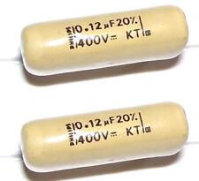 2 Condensateurs MULLARD MUSTARD KT NEUFS 120nF - 400V - 0.120uF - 120000pF