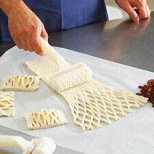 Kuchen Plätzchen Pizza Keks Gitter Roller Cutter Embosser Dekor Werkzeug DODE