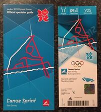 LONDON 2012 TICKET CANOE SPRINT ED MCKEEVER GOLD 11 AUG & SPECTATOR GUIDE *MINT*