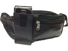 MENS LEATHER BUM BAG/WAIST BELT POUCH/MONEY POUCH TRAVEL DOCUMENTS