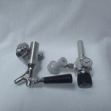 Beer tap with threaded spear & CO2 gas regulator to fit mini keg beer growler